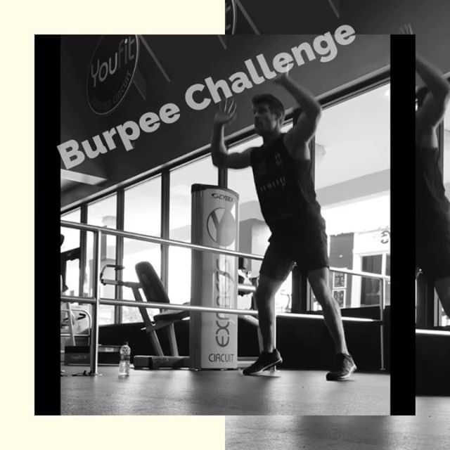 🚨 Burpee Challenge 🚨 How long does it take you to do 100 burpees (without stopping)? Take a guess how long it took me...💪🏼😜 This is meant to challenge you mentally & physically. You are more capable than you think! Do you have it in to give it a go? I can't wait to hear your results and for several of you to beat me 👊🏼 which only means I'll have to continue pushing myself to become better 💥 I challenge @mackroesch @300proof @thejonbrown and anyone else who's crazy enough to commit!! •======•======•======•======•======• #BurpeeChallenge #Burpees #Fitness #MondayMotivation #WorkoutOfTheDay #WOD #100Burpees #PushYourLimits #BurpeeItForward